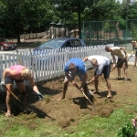First Work Party at City Dock Community Garden